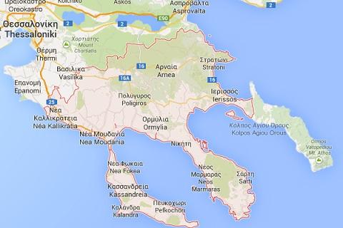 halkidiki-map