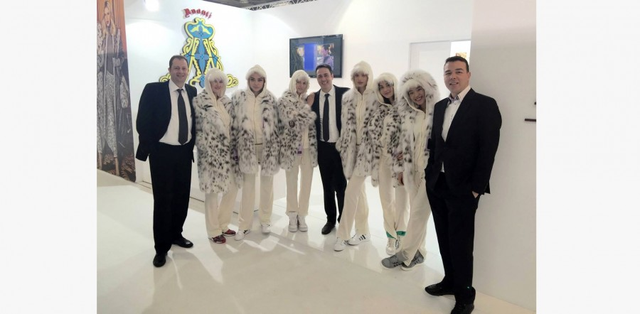 AVANTI FURS Brand owners at Fur Excellence in Athens 2015