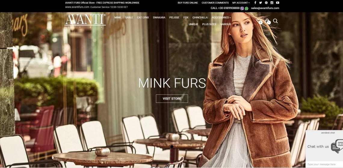 Avanti Furs Online Shop – New Categories & Products