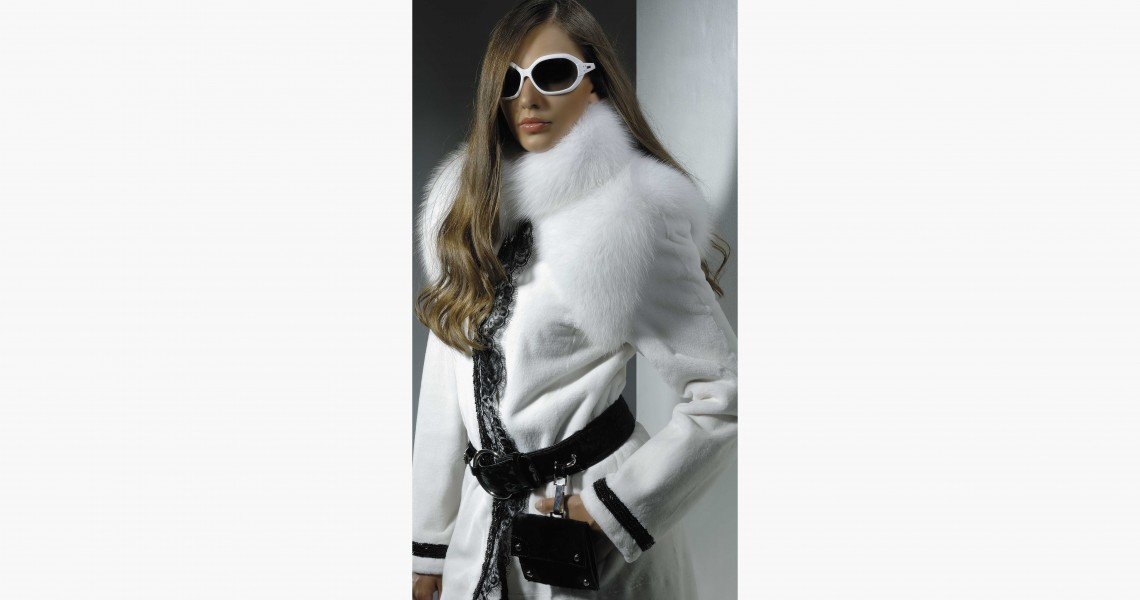 White mink fur