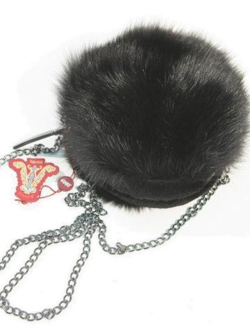 black-sable-fur-shoulder-bag