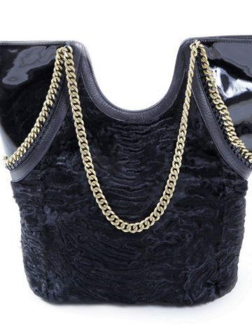 black-swakara-fur-shoulder-bag